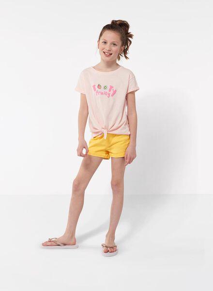 kinder skinny short geel geel - 1000012490 - HEMA