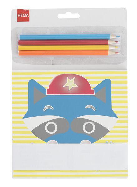 kleurboek met stickers - 15990182 - HEMA