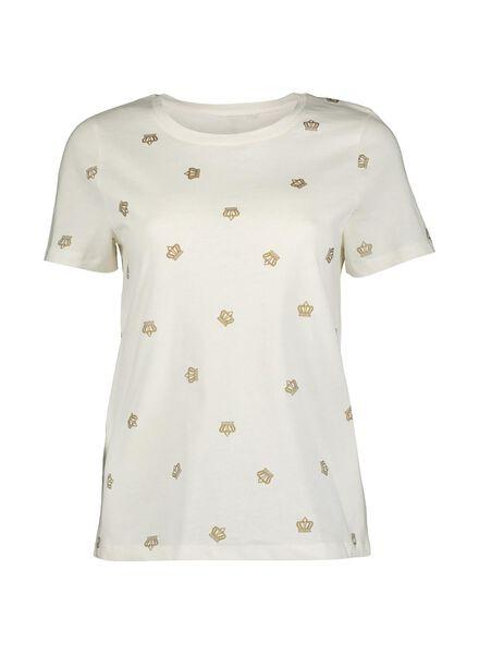 dames t-shirt gebroken wit gebroken wit - 1000013624 - HEMA