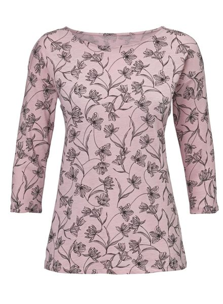dames t-shirt lichtroze - 1000012466 - HEMA