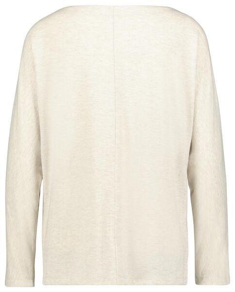 dames t-shirt boothals beige beige - 1000023476 - HEMA