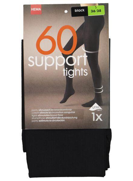licht ondersteunende panty 60 denier zwart zwart - 1000017106 - HEMA