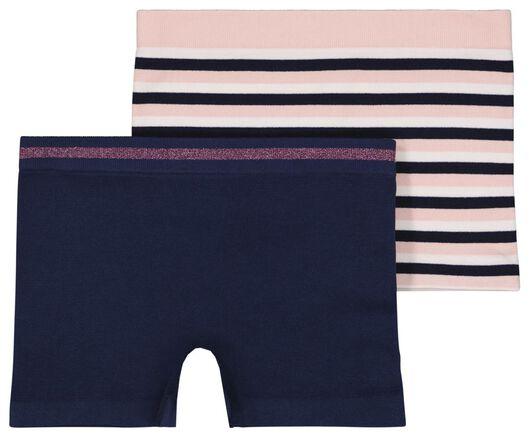 kinderboxers naadloos - 2 stuks donkerblauw donkerblauw - 1000023462 - HEMA