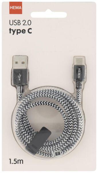 laadkabel USB 2.0 / type C - zwart - 39640029 - HEMA