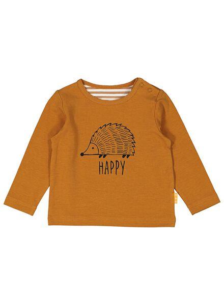 newborn t-shirt met bamboe bruin bruin - 1000014052 - HEMA