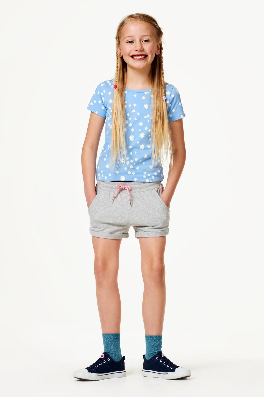 HEMA Kinder Sweatshort Grijsmelange (grijsmelange)