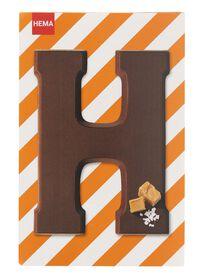 karamel zeezout melkchocoladeletter H - 10039008 - HEMA