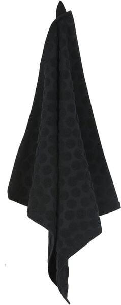 keukentextiel - stip - zwart keukendoek keukendoek - 1000016793 - HEMA