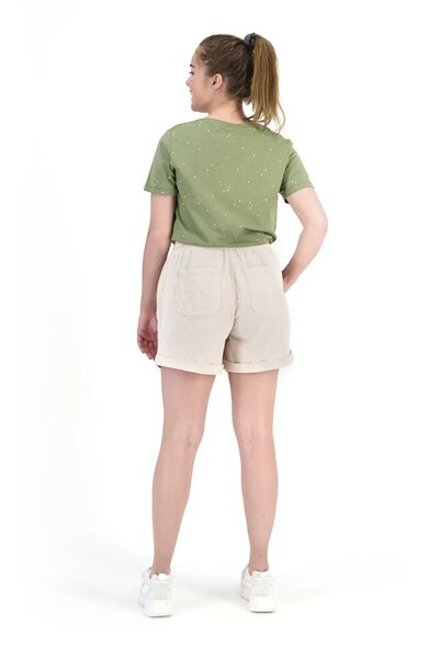 dames t-shirt olijf M - 36240272 - HEMA