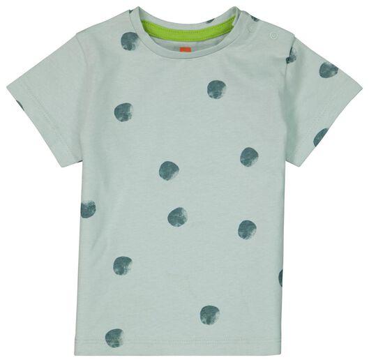 baby t-shirt stippen blauw blauw - 1000023878 - HEMA