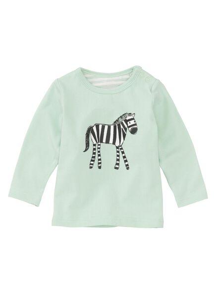 newborn baby t-shirt mintgroen mintgroen - 1000011137 - HEMA