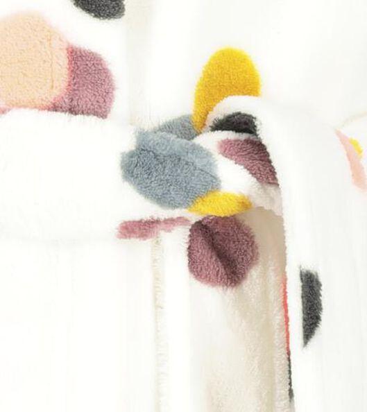 kinderbadjas met stippen gebroken wit gebroken wit - 1000020710 - HEMA