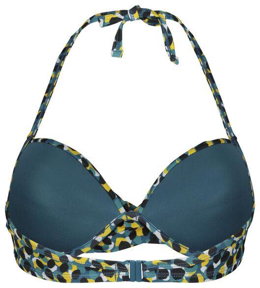 dames bikinitop halter push up met beugel cup A-D - dots petrol 85D - 22350389 - HEMA