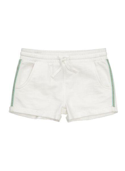 kinder korte sweatbroek gebroken wit - 1000005673 - HEMA