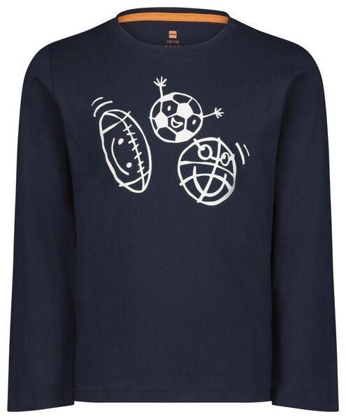 kinderpyjama sport donkerblauw donkerblauw - 1000022780 - HEMA