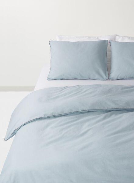 dekbedovertrek - 140 x 200 - linnen - blauw - 5710088 - HEMA