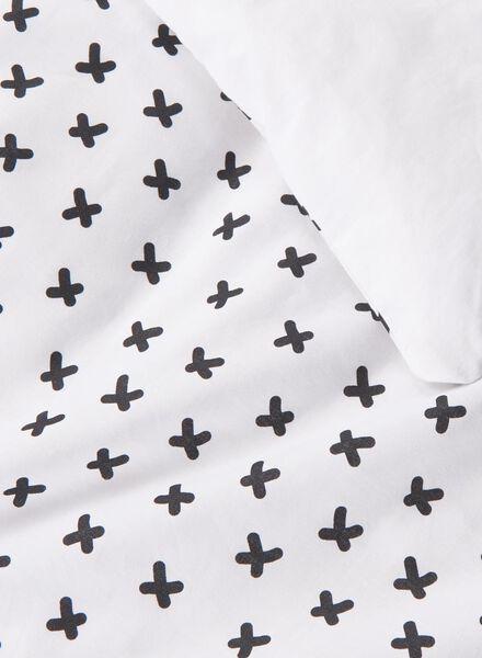 dekbedovertrek - zacht katoen - 140 x 200 cm - wit kruisjes wit 140 x 200 - 5750104 - HEMA