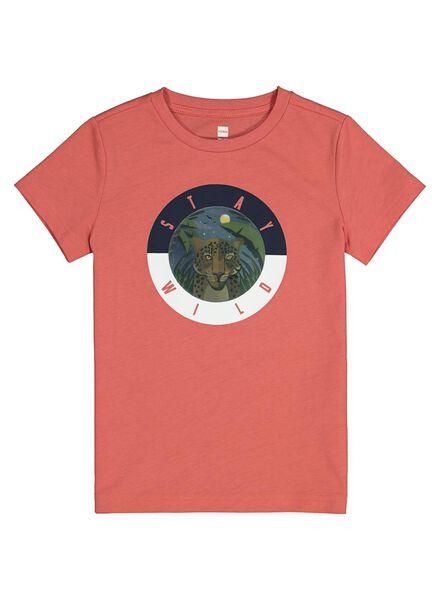 kinder t-shirt koraal koraal - 1000014217 - HEMA