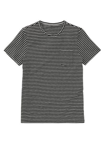 heren t-shirt zwart zwart - 1000009009 - HEMA