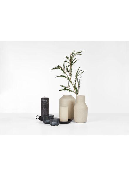 kaarsonderzetter - Ø 12 cm - zwart - 13382048 - HEMA