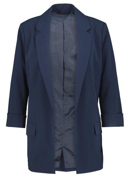 damesblazer donkerblauw donkerblauw - 1000016634 - HEMA