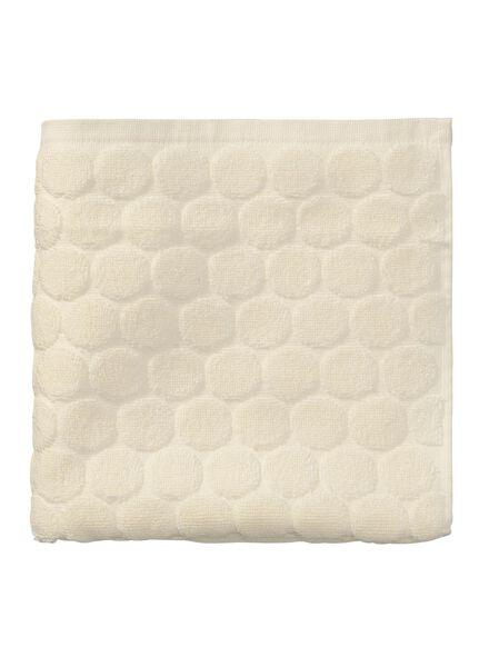 handdoek - 50 x 100 cm - zware kwaliteit - ecru gestipt ecru handdoek 50 x 100 - 5240187 - HEMA