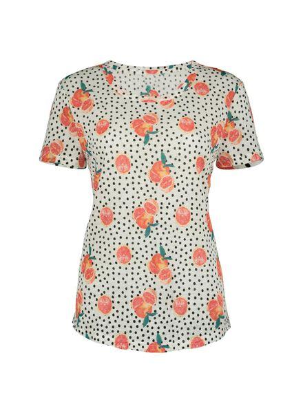 dames t-shirt - linnen oranje oranje - 1000013801 - HEMA