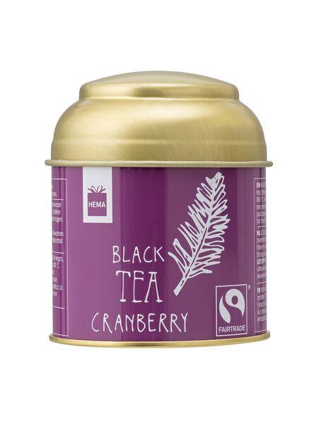 zwarte thee cranberry fairtade - 60940004 - HEMA