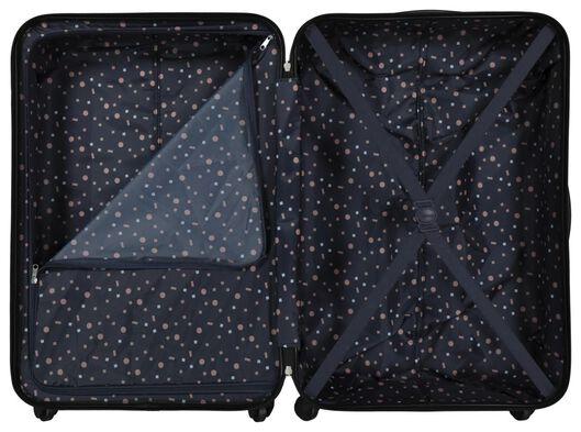 koffer - 77x52x28 - structuur - donkerblauw - 18630102 - HEMA