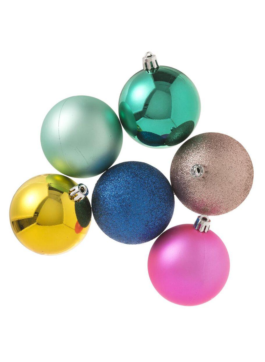6 Pak Plastic Kerstballen Hema