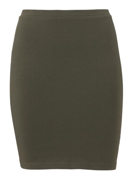 damesrok - biologisch katoen olijf olijf - 1000004952 - HEMA