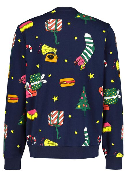 kerstsweater volwassenen DIY donkerblauw donkerblauw - 1000016961 - HEMA