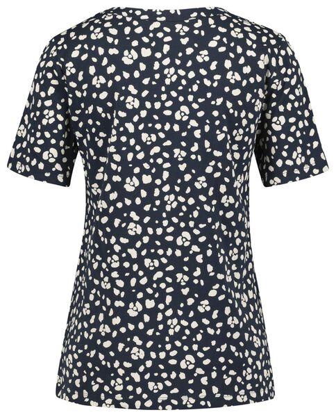 dames t-shirt donkerblauw - 1000021312 - HEMA