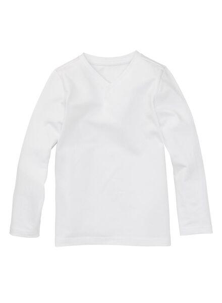2-pak kinder t-shirt - biologisch katoen wit wit - 1000003432 - HEMA