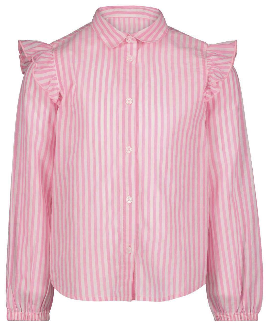 HEMA Kinderblouse Strepen Fluor Roze (fluor roze)