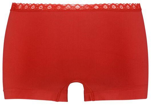 damesboxer naadloos kant rood rood - 1000025024 - HEMA