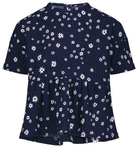 kindertop bloem donkerblauw donkerblauw - 1000023311 - HEMA