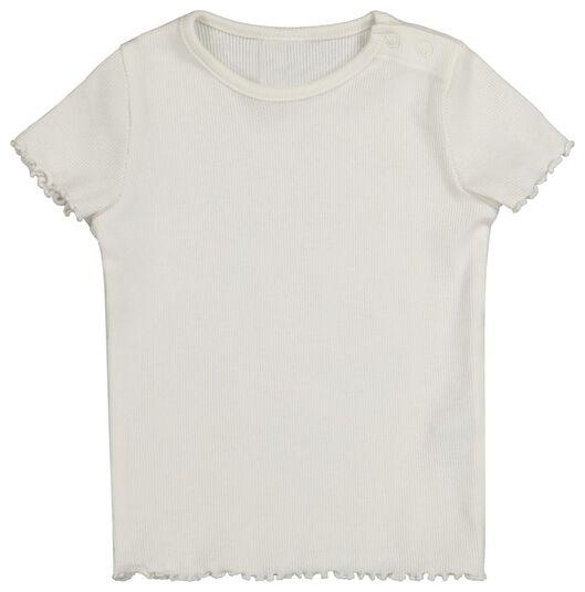 baby t-shirt rib 2 stuks multi multi - 1000022325 - HEMA