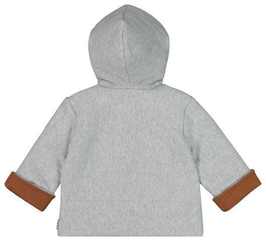 newborn sweatjas met capuchon grijsmelange grijsmelange - 1000020352 - HEMA