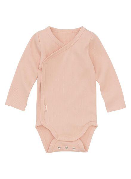 newborn-prematuur overslagromper bamboe stretch lichtroze lichtroze - 1000013398 - HEMA