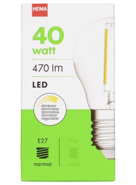 LED lamp 40W - 470 lm - kogel - helder - 20020032 - HEMA