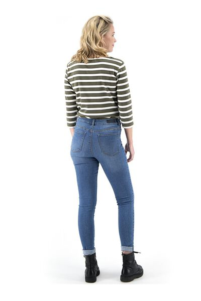dames jeans - shaping skinny fit middenblauw 36 - 36337546 - HEMA