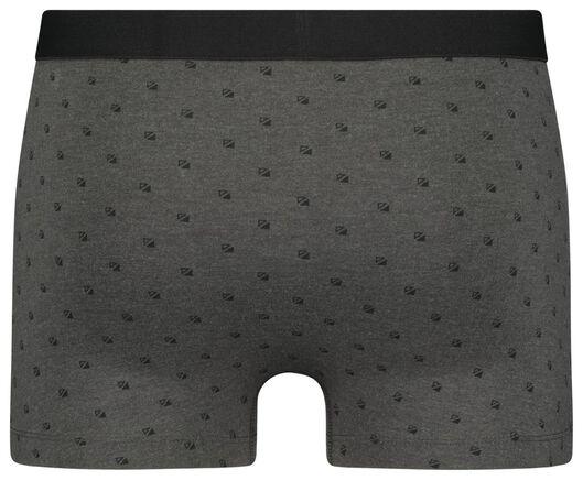 herenboxers kort - katoen/stretch 3 stuks zwart S - 19174311 - HEMA