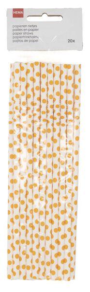 papieren rietjes buigbaar 20 stuks oranje - 14200524 - HEMA
