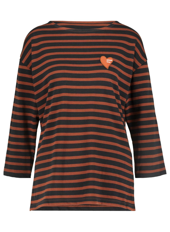 HEMA Dames T-shirt Bruin (bruin)