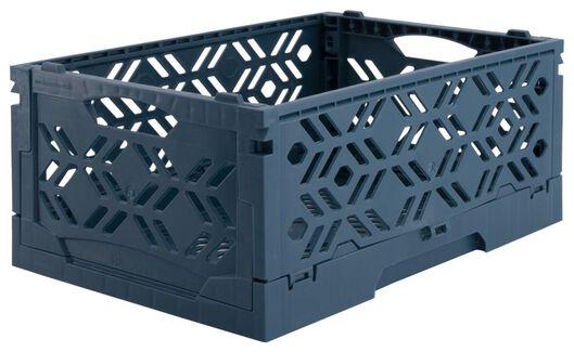 klapkratje recycled 16x24x10 - donkerblauw - 39821057 - HEMA