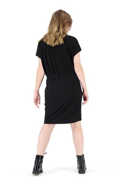 damesjurk zwart zwart - 1000019942 - HEMA