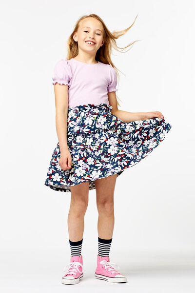 kinder t-shirt rib lila lila - 1000023672 - HEMA