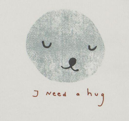 newborn t-shirt hug wit 56 - 33434532 - HEMA
