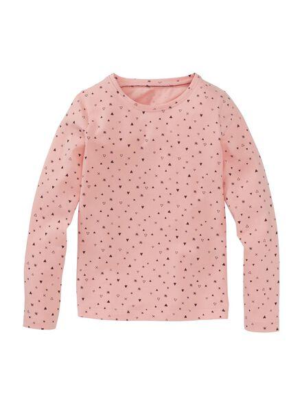 2-pak kinder t-shirts lichtroze lichtroze - 1000009732 - HEMA